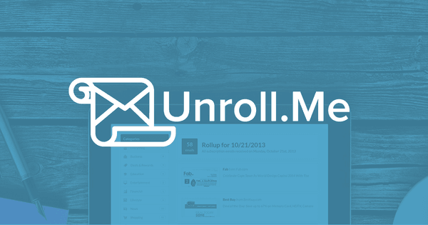 Unroll - сервис по очистке почты от спама