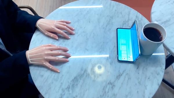 Samsung создала невидимую клавиатуру