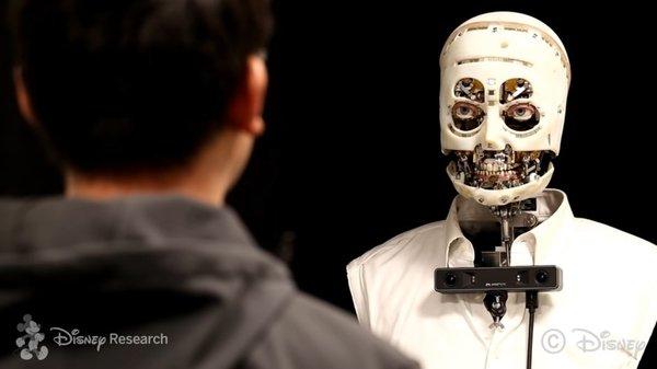 Робот от Disney научился имитировать мимику человека