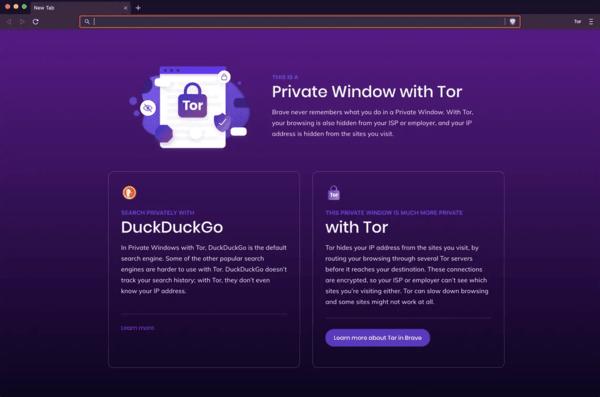 В браузере Brave появилась поддержка сайтов из даркнета